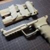 【東京マルイ 電動HK45】塗装とサイレンサーを付けてタクティカル風にカスタムします